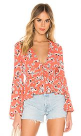 BB Dakota JACK by BB Dakota Blue Skies Top in Persimmon Red from Revolve com at Revolve