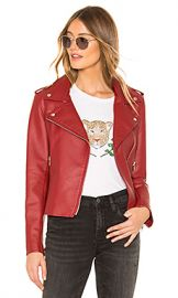 BB Dakota Just Ride Faux Leather Jacket in Brick Red from Revolve com at Revolve