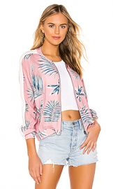 BB Dakota Palm Before A Storm Bomber Jacket in Pink Blossom from Revolve com at Revolve