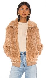 BB Dakota Teddy Or Not Bomber Jacket in Camel from Revolve com at Revolve