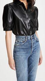 BB Dakota Vegan Leather Puff Sleeve Top at Shopbop