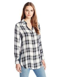BB Dakota Women\'s Deacon Plaid Shirt with Side Slits at Amazon