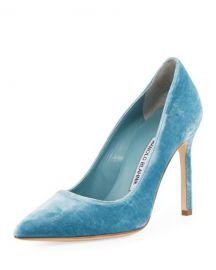 BB Velvet Point-Toe Pump  Manolo Blahnik at Neiman Marcus