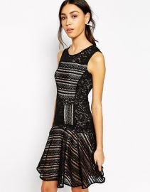 BCBG MaxAzria  BCBGMAXAZRIA Jalina Dress in Lace at Asos