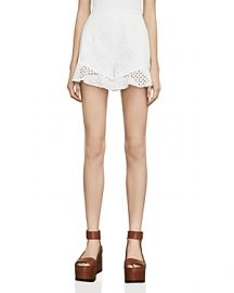 BCBGMAXAZRIA Janel Eyelet Shorts at Bloomingdales