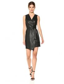 BCBGMAXAZRIA Layla Asymmetrical Pleather Dress at Amazon