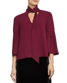 BCBGMAXAZRIA Mellie Tie-Neck Top at Bloomingdales