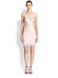 BCBGMAXAZRIA - Abigail Sequined Lace Knit Dress at Saks Fifth Avenue