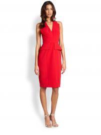 BCBGMAXAZRIA - Alena Peplum Dress at Saks Fifth Avenue