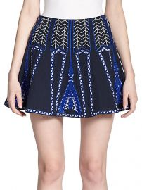 BCBGMAXAZRIA - Bronwyn Embroidered Mini Skirt at Saks Fifth Avenue