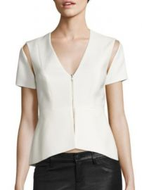 BCBGMAXAZRIA - Cutout Peplum Top at Saks Off 5th