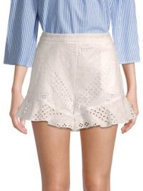 BCBGMAXAZRIA - Diamond Eyelet Shorts at Saks Fifth Avenue