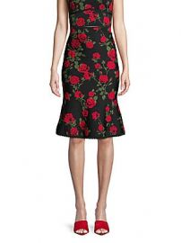 BCBGMAXAZRIA - Floral A-Line Skirt at Saks Off 5th