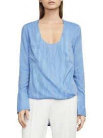 BCBGMAXAZRIA - Ginevra High-Low Wrap-Front Top at Saks Off 5th