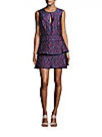 BCBGMAXAZRIA - Layered Skirt Tie-Dye Dress at Saks Off 5th