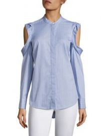 BCBGMAXAZRIA - Nishani Cold-Shoulder Striped Shirt at Saks Fifth Avenue