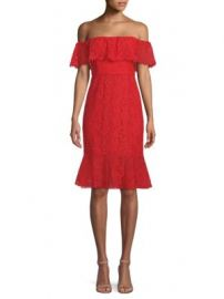 BCBGMAXAZRIA - Off-The-Shoulder Ruffle Dress at Saks Fifth Avenue