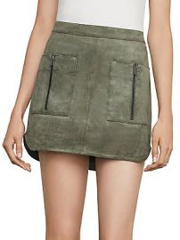 BCBGMAXAZRIA - Patch Pocket Faux-Suede Skirt at Saks Off 5th