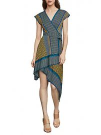 BCBGMAXAZRIA - Printed Faux Wrap Dress at Saks Off 5th