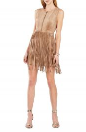 BCBGMAXAZRIA  Hamiin  Fringe Faux Suede Sheath Dress at Nordstrom