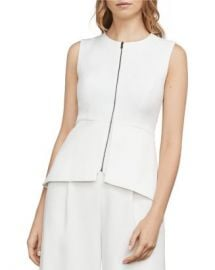 BCBGMAXAZRIA Abrielle Peplum Essential Top Women - Bloomingdale s at Bloomingdales