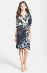BCBGMAXAZRIA Adele Print Matte Jersey Wrap Dress at Nordstrom