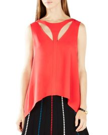 BCBGMAXAZRIA Anastazia Cutout HighLow Top in Red at Bloomingdales