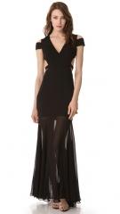 BCBGMAXAZRIA Ava Cutout Gown at Shopbop