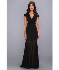 BCBGMAXAZRIA Ava Cutout Gown Black at Zappos