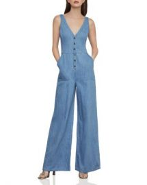 BCBGMAXAZRIA Button-Front Denim Jumpsuit  Women - Bloomingdale s at Bloomingdales