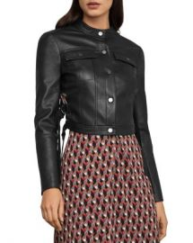 BCBGMAXAZRIA Cutout Faux Leather Moto Jacket Women - Bloomingdale s at Bloomingdales