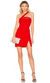 BCBGMAXAZRIA Dayne Fitted Mini Dress in Jewel Red from Revolve com at Revolve