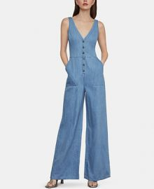BCBGMAXAZRIA Denim Jumpsuit   Reviews - BCBGMAXAZRIA - Women - Macy s at Macys