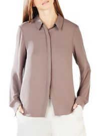 BCBGMAXAZRIA Dianna Open Back Button Down Shirt at Bloomingdales