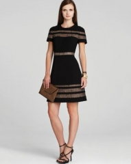 BCBGMAXAZRIA Dress - Kalli Lace Inset at Bloomingdales