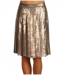 BCBGMAXAZRIA Edna Sequin Skirt Pumice Wash at 6pm
