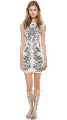 BCBGMAXAZRIA Ellena Printed Dress at Shopbop