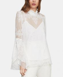 BCBGMAXAZRIA Embroidered Tulle Top Women -  BCBGMAXAZRIA - Macy s at Macys