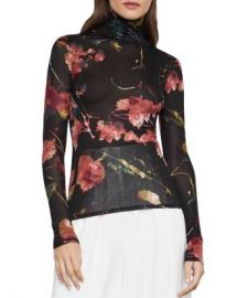BCBGMAXAZRIA Floral-Print Turtleneck Top Women - Bloomingdale s at Bloomingdales