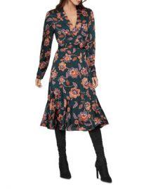 BCBGMAXAZRIA Floral Satin Georgette Wrap Dress  Women - Bloomingdale s at Bloomingdales
