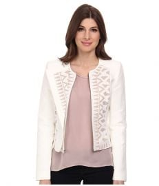 BCBGMAXAZRIA Floyd Lace Insert Jacket at 6pm