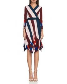 BCBGMAXAZRIA Isabella Asymmetric Wrap Dress at Bloomingdales