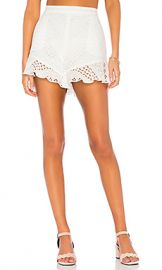 BCBGMAXAZRIA Janel Short in White from Revolve com at Revolve