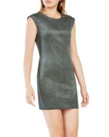 BCBGMAXAZRIA Karlee Faux-Suede Shift Dress at Bloomingdales