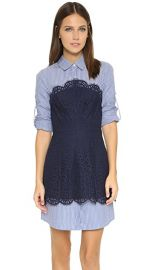 BCBGMAXAZRIA Kaylin Lace Overlay Dress at Shopbop