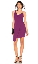 BCBGMAXAZRIA Micaila Asymmetrical Dress in Imperial Plum from Revolve com at Revolve