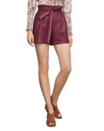 BCBGMAXAZRIA Paperbag-Waist Faux Leather Shorts Women - Bloomingdale s at Bloomingdales