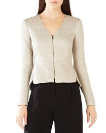BCBGMAXAZRIA Pearson Diamond-Quilted Faux Leather Jacket at Bloomingdales