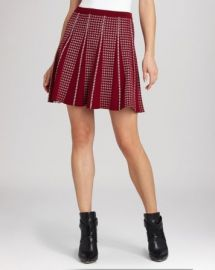 BCBGMAXAZRIA Skirt - Yaz Jacquard Check at Bloomingdales