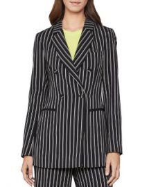 BCBGMAXAZRIA Striped Double-Breasted Blazer Women - Bloomingdale s at Bloomingdales